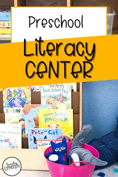 The Literacy Center in a preschool classroom is a place for children to learn about books, alphabet letters and other literary concepts. See what is inside my Literacy Center. Preschool Centers, Preschool Literacy, Literacy Centers, Play Based Learning, Learning Centers, Classroom Organization, Organization Ideas, Cheap Used Books, Dramatic Play