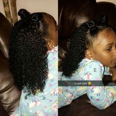 All (healthy) hair is good hair Lil Girl Hairstyles, My Hairstyle, Mixed Baby Hairstyles, Girls Natural Hairstyles, Black Hairstyles, Curly Hair Styles, Natural Hair Styles, Kids Natural Hair, Beautiful Black Babies