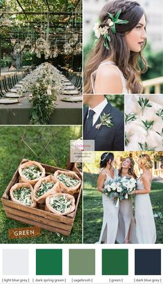 Green wedding theme ideas { Different shades of green wedding }