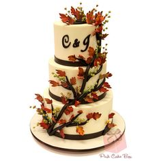 Fall Themed Wedding Cakes found on Polyvore
