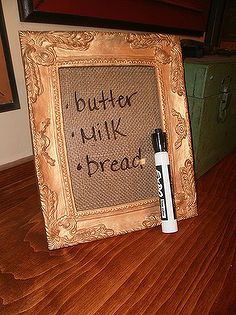 diy burlap dry erase board, crafts, Functional and Fabulous