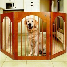 MAJESTIC PET STANDING WOOD AND WIRE DOG GATE