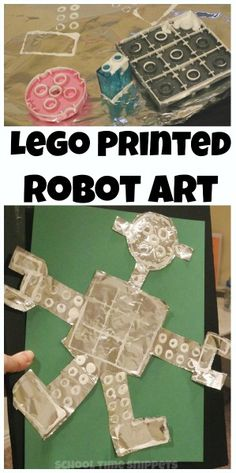 Exlore printmaking with Legos by creating Lego Printed Robots
