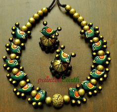 Terracotta Jewellery Making, Terracotta Jewellery Designs, Terracotta Earrings, Fabric Jewelry, Clay Jewelry, Jewelry Crafts, Jewelry Art, Teracotta Jewellery, Beaded Earrings Patterns