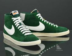 Nike Blazer High Premium Retro.. The green is really Dope..