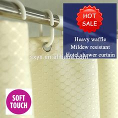 Bathroom Curtains, Fabric Shower Curtains, Hotel Shower Curtain, Waffle, Beige, App, Elegant, Water, Check