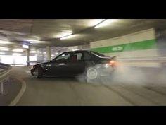 Amajing Drift of a BMW in a steet parking lot