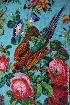 """Милые сердцу штучки: Вышивка бисером: """" Роскошная скатерть из Сингапурского музея"""""""