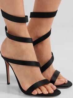 Gianvito Rossi  Opera  Satin Sandals Sexy Heels 11b6c0c31d77