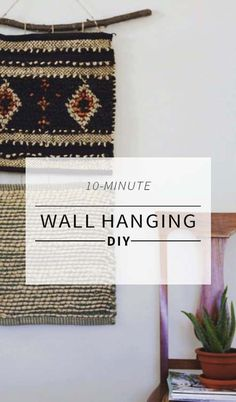How To Make a Wall Hanging Without A Loom #wallhangings