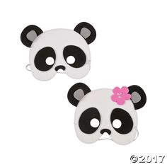 Look the part of your favorite bear when you include these Panda Masks in your panda party supplies. Great for placing at every table setting at your party . Panda Party Favors, Panda Birthday Party, 8th Birthday, Birthday Ideas, Pandas Baby, Latest Cartoons, Animal Masks, Mask Party, Floral Pillows