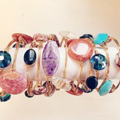 How BEAUTIFUL are our new #beau #bracelets?!? Wear as a statement piece or stack them with your favorite bangles! Now available at sweetbluegifts.com