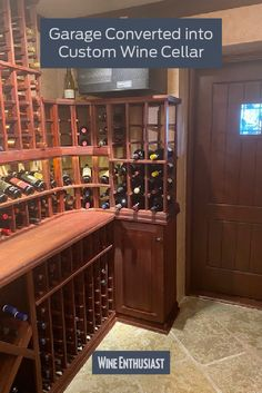 Wine Enthusiast has a great selection of custom cellars. We can design a cellar to fit your needs and enhance your collection! Wine Cellar Racks, Wine Rack, Cooling Unit, Wine Cellar Design, Wine Collection, Storage Units, Business Signs, Wine Storage, Can Design