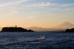 Enoshima and Mt.Fuji sunset