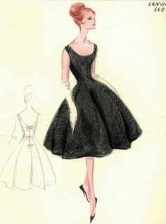 Lanvin Dress by FIT Library Department of Special Collections, via Flickr