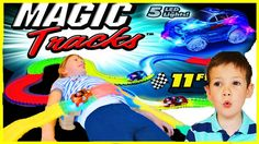 MAGIC TRACKS Toy Cars For Children Toys Unboxing Review & Crazy Kids Pla...