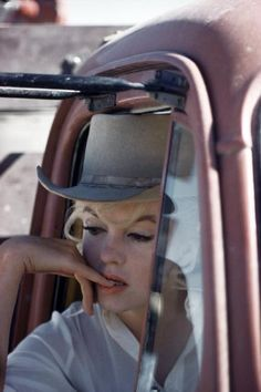 USA. 1960. Nevada. Reno. Marilyn Monroe during the filming of The Misfits.