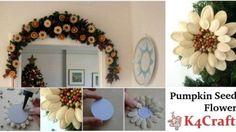 DIY Pumpkin Seed Flower Ornament for decoration (Tutorial)