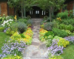 Wow! Great colors...  Shade Garden Paths Design, Pictures, Remodel, Decor and Ideas - page 18