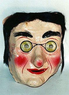 Vintage Mask Vintage Native American Indian mask vintage costume mask 1960/'s Halloween Scary mask vintage halloween -Ben Cooper