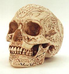 Celtic art skull