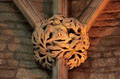 Pershore Abbey: Roof Boss: Green Man