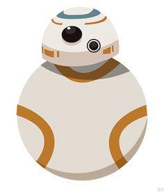 Star Wars: The Force Awakens - Animated GIF - #Droid #StarWars7 #StarWarsVII #bb-8 #spherobb8 #bb8 #starwars #friki