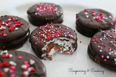 Chocolate Covered Rolo Stuffed Ritz Crackers on MyRecipeMagic.com