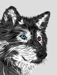 Gray wolf Art Print by Roland Banrevi | Society6 #art #design #awesome #print #poster #color #cool #gift #gift #ideas #hipster #funny #Illustration #threadless #drawing #girls #beautiful #humor