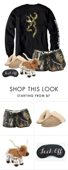 """Go to bed, Sleepyhead ❣️"" by fxithers ❤ liked on Polyvore featuring Realtree and UGG Australia"