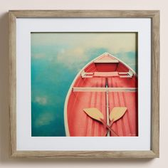 Photographer Alicia Bock grew up in Michigan and Florida surrounded by water and color, an influence that remains with her today. She captures a dreamy boat scene in this matted, framed and ready-to-hang photo print.