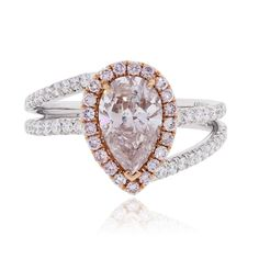 18k White and Rose Gold 1.32ct Natural Pink Diamond Engagement Ring | TrueFacet