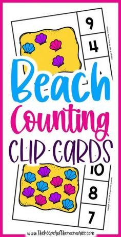 Beach Counting Clip Cards are a wonderful way to practice number recognition and counting skills with your little kids. Don't forget to grab yours today! #preschool #math #beach #seashells #centers #counting #numbers #preschoolmath #preschoolthemes #preschoolactivities Sensory Activities Toddlers, Preschool Themes, Kids Learning Activities, Preschool Printables, Preschool Worksheets, Fun Learning, Preschool Activities, Printable Worksheets, Free Printable