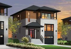 Contemporary Modern Elevation of Plan 76362