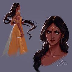 Shahrzad al-Khayzuran ~ ~ ~ #thewrathandthedawn#theroseandthedagger#fanart#characterdesign#artistsoninstagram