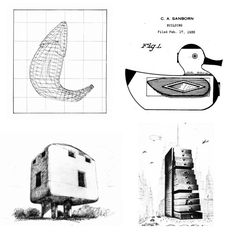 EVERYDAY OBJECTS AS ARCHITECTUREFrom Left to Right:Frank O. Gehry, Fish / Chester A. Sanborn, United States Patent 85,006, Design for a Building, 1930-1931Claes Oldenburg, Building in the Form of An English Extension Plug, 1967 / Saul Steinberg
