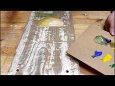 Как нарисовать лаванду. Рисуем акриловыми красками. - YouTube