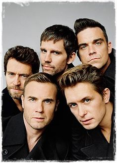 Take That: Howard Donald, Jason Orange, Robbie Williams, Gary Barlow and Mark Owen Gary Barlow, Music Love, My Music, Reggae Music, Take That Band, Howard Donald, Jason Orange, Mark Owen, Isabel Ii