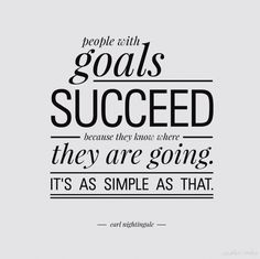 """""""People with goals succeed because they know where they are going. It's as simple as that."""""""