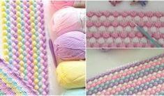 Tığ İşi Örgü Bebek Battaniyesi Yapılışı Crochet Angel Pattern, Learn To Crochet, Baby Knitting Patterns, Crochet Stitches, Diy And Crafts, Blanket, Projects To Try, Popcorn, Tuna