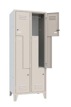 Armadio Multivano Spogliatoio a 4 Ante a Z multifunzione 4 Posti in lamiera di acciaio alta qualità - Serratura a cilindro inclusa - N.2 Colonne - N.4 Vani - Armadietto mm 690x500x1800 - Metri Cubi 0,62 - Vano (LxPxH) 358/170x480x1140 mm. Capacità Litri Kg.41. Grigio Luce RAL 7035. Colori Assortiti di Design. Made in Italy. Qualità Superiore. Adatto a qualsiasi location, Open Space, Beauty Center, Parrucchieri, Spa, Scuole, Hotel. Accattivante anche per Living/Home. Info Whatsapp 3737180535 Metallica, Lockers, Locker Storage, Open Space, Cabinet, Furniture, Home Decor, Clothes Stand, Closet