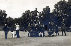 Riga, Latvia, Group photograph of the children during gymnastics training in the summer camp of the Jewish Health organization OZE during a trip in the forest, 1926.