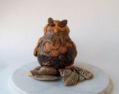 Woodland Owl Sculpture by FlowerandPearlStudio on Etsy, $175.00