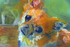 Chihuahua Xmas gift idea buy here #chihuahua #dogs #art #painting #decor… visit oscarjetson.com to see cool dog art oscarjetson.com