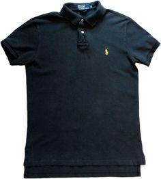 Ralph Lauren polo sport shirt mens black 100% cotton size S logo #RalphLauren #PoloRugby