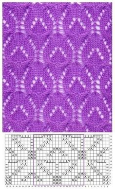 Nice pattern with knitting needles in piggy bank 0 - Stricken Baby Sachen Lace Knitting Stitches, Lace Knitting Patterns, Knitting Charts, Lace Patterns, Knitting Designs, Knitting Needles, Knitting Projects, Hand Knitting, Stitch Patterns