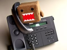 Domo on the phone
