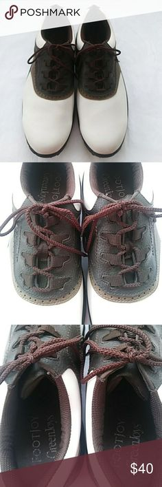quality design 47c34 46967 Foot Joy mens golf shoes Saddle Foot Joy GreenJoys mens golf shoe. Soft,  removable
