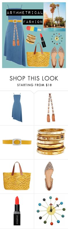 """Asymmetrical Fashion"" by bravo1755 ❤ liked on Polyvore featuring Warehouse, Salvatore Ferragamo, Orciani, Ashley Pittman, Mar y Sol, Charlotte Russe, Smashbox and Mod Made"