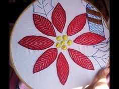 PASO A PASO PUNTADA PARA FLOR SENCILLA *Bordando Con Estilo* - YouTube Hand Embroidery Stitches, Hand Embroidery Designs, Embroidery Techniques, Embroidery Patterns, Tv Decor, Needlepoint, Diy Crafts, Sewing, Handmade